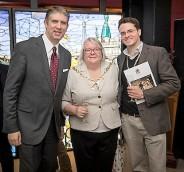 Mayor of Southwark Councillor Kath Whittam, her Consort and Utah Valley University President Matthew Holland
