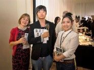 Artists from the Naked Craft Project (Japan) with Mrs Wiesia Cook-Bownas of the Japan Society